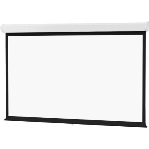 """Da-Lite Model C 120"""" x 160"""" Matte White Heavy Duty Manual Wall Mount Projection Screen"""