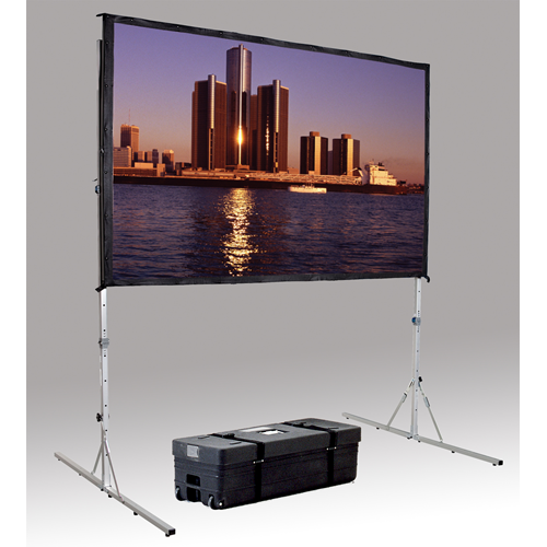 "Da-Lite Fast-Fold Delux Replacement Fabric Portable And Projection Screen System 62"" X 108"" HDTV For"