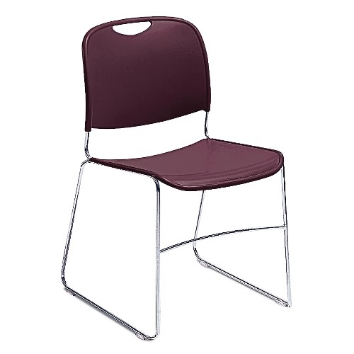 Hi-Tech Ultra-Compact Stacker Fabric Color: Wine, Frame Color: Chrome