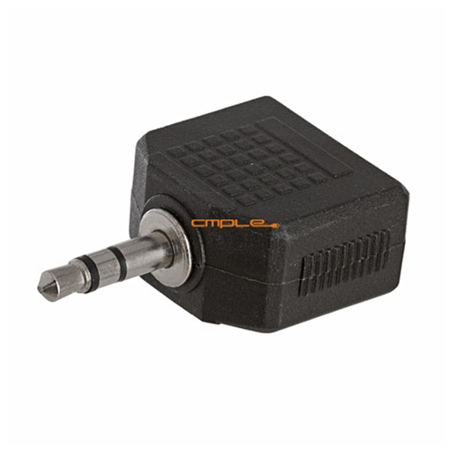 3.5mm Stereo Plug to 2x3.5mm Mono Jack Adapter