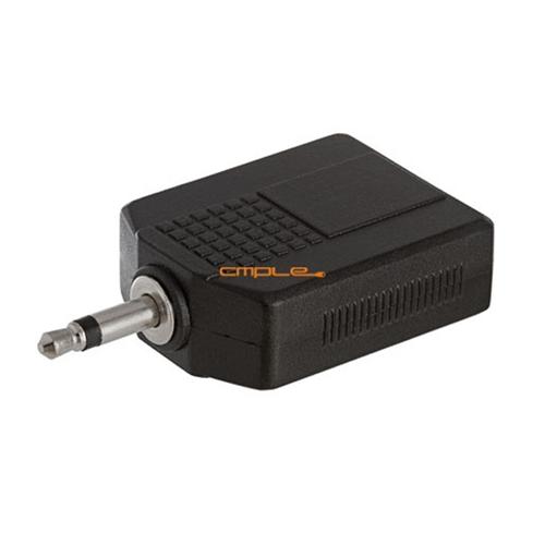 3.5mm Mono Plug to 2x6.35mm Mono Jack Adapter