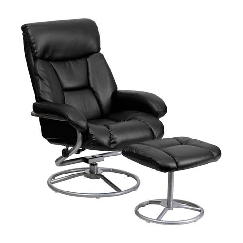 Flash Furniture Leather Symmetrical Reclining Sofas ( 863-Bt-70230-Bk-Cir- ) - Black