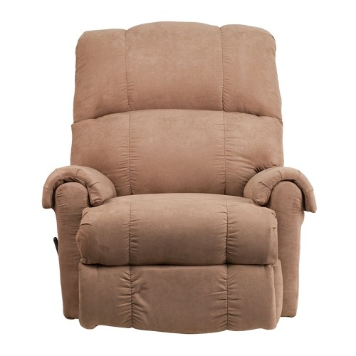Contemporary Victory Lane Taupe Fabric Rocker Recliner [WM-8700-394-GG]