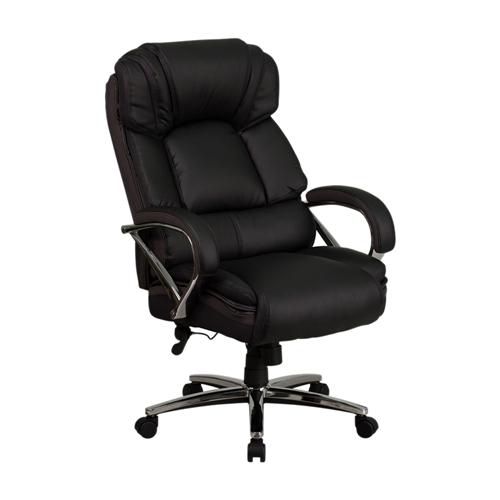 hercules series 500 lb capacity big tall black leather executive