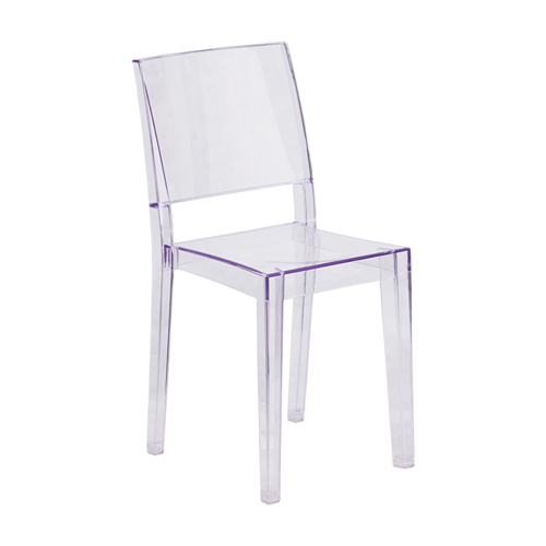 Flash Furniture Phantom Series Transparent Stacking Side Chair - Clear