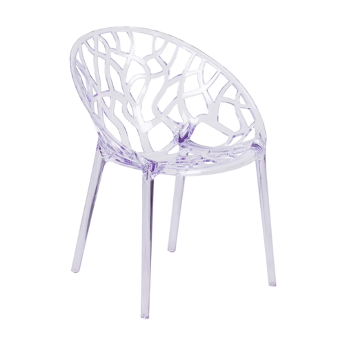 Flash Furniture Specter Series Transparent Stacking Side Chair - Clear