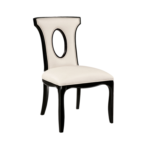 Alexis Side Chair - Black/Off White