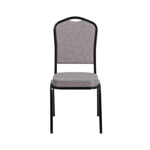 Flash Furniture Hercules Series Crown Back Stacking Banquet Chair with Fabric and 2.5'' Thick Seat - Copper Vein Frame - Brown