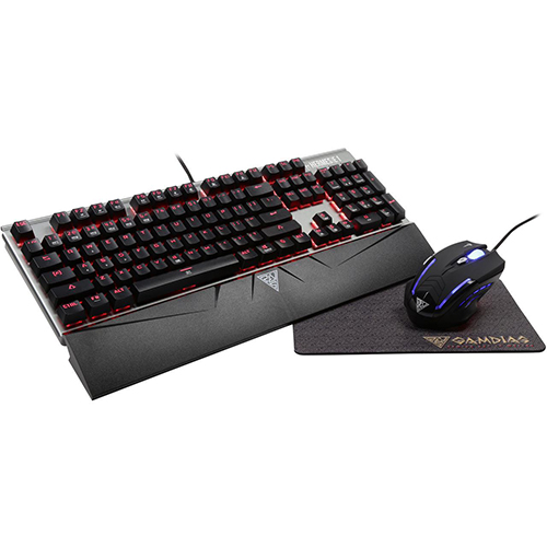 Gamdias E1 Mechanical Gaming Keyboard and Mouse Combo with Bonus Mouse Mat
