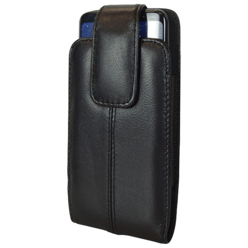 LBT Lambskin Leather Holster Case for Galaxy S8 with Gel Skin Case - Black