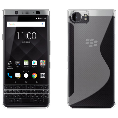 LBT Gel Skin Fitted Soft Shell Case for BlackBerry KEYone - Clear