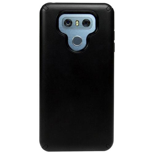 Étui rigide ajusté DualKase de LBT pour G6 de LG - Noir