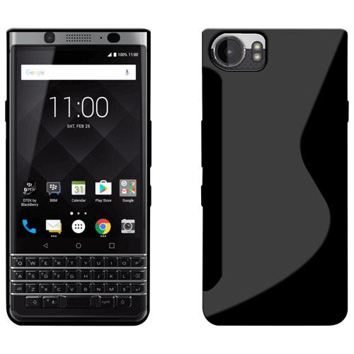 LBT Gel Skin Fitted Soft Shell Case for BlackBerry KEYone - Black