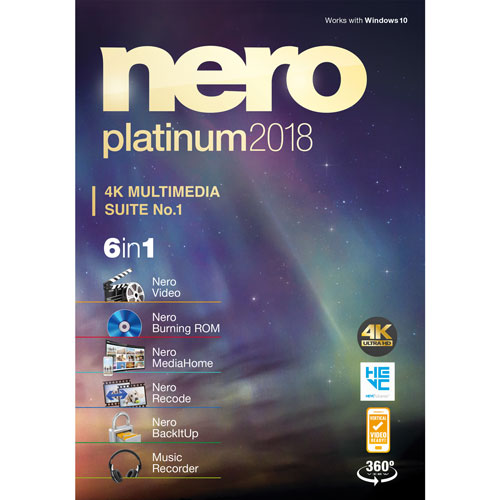 Nero Platinum 2018 (PC) - Bilingual