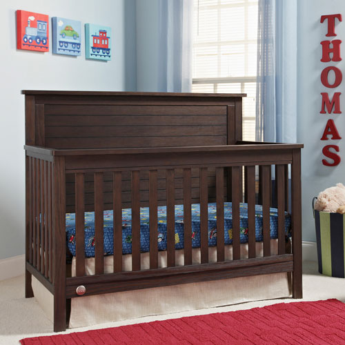 Fisher price lucas 4 in 1 convertible cribs wire brushed for Best value baby crib
