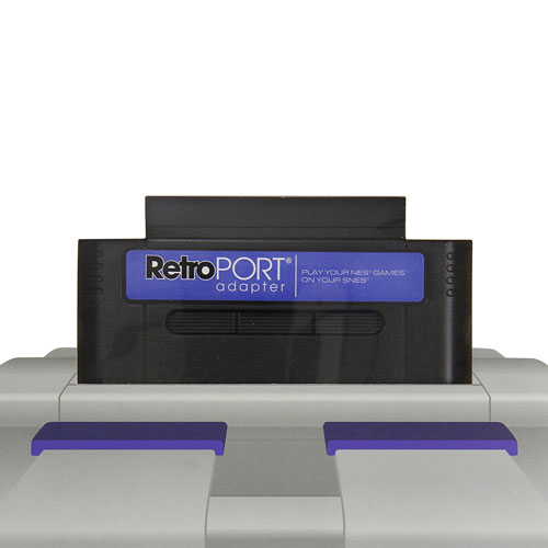 Retro-Bit RetroPort NES to SNES Game Adapter - Black