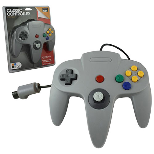 TTX Tech Classic Controller for N64 - Grey