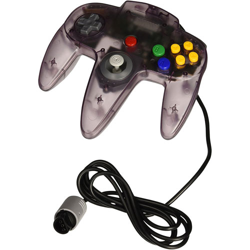 TTX Tech Classic Controller for N64 - Clear/Purple