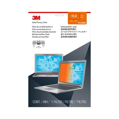 """3M Gold Privacy Filter For 15.6"""" Widescreen Laptop (GF156W9B)"""