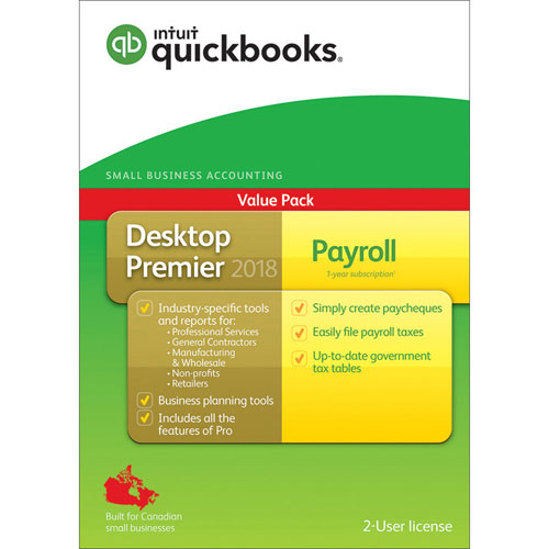Intuit QuickBooks Desktop Premier with Payroll 2018 (PC) - English