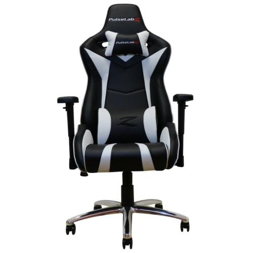 PulseLabz Enforcer Series Gaming Chair - White/Black