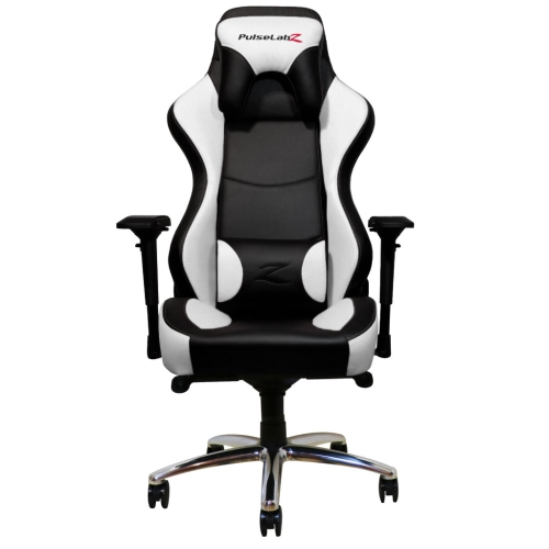 PulseLabz Guardian Series Gaming Chair - White/Black
