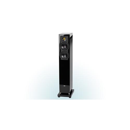 ELAC 2.5-Way Bass-Reflex FS 247.3 Floorstanding Speaker (Black/White, Each/Single) - High Gloss