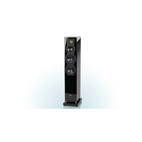 ELAC 2.5-Way Bass-Reflex FS 249.3 Floorstanding Speaker (Black/White, Each/Single) - High Gloss