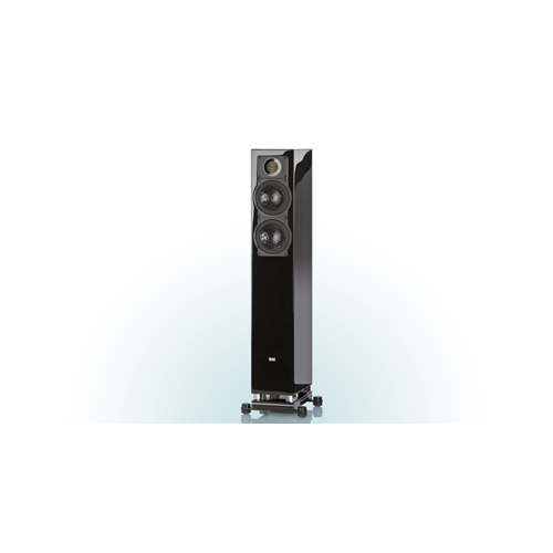 ELAC FS 407 2.5-Way Bass Reflex Floorstanding Speaker (Black/White/Walnut, Each/Single) - High Gloss