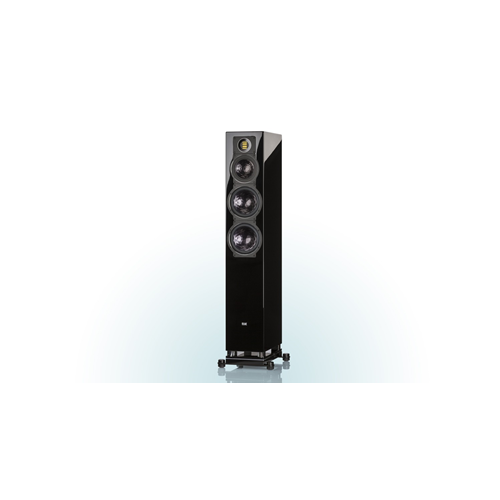 ELAC FS 409 3.5-Way Bass Reflex Floorstanding Speaker (Black/White/Walnut, Each/Single) - High Gloss