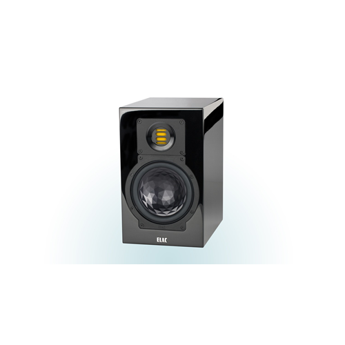 ELAC 2-Way Bass-Reflex BS 243.3 Bookshelf Speakers (Black/White, Pair) - High Gloss