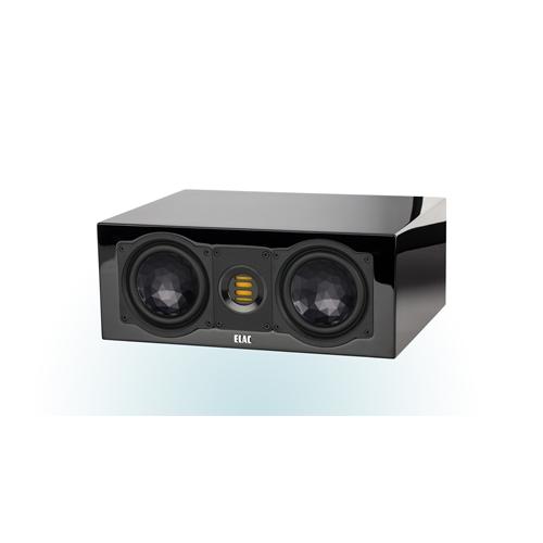 ELAC 2.5-Way Bass-Reflex CC 241.3 Center Speaker (Black/White, Each/Single) - High Gloss