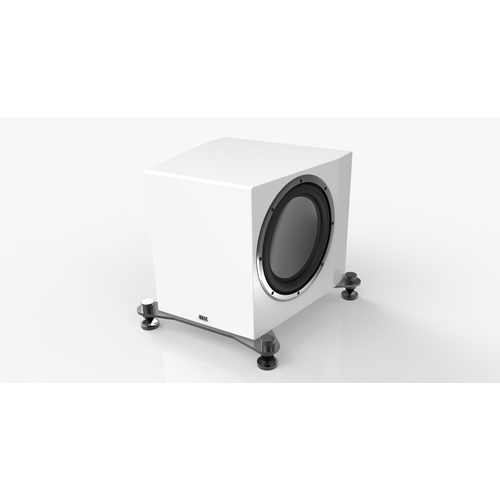 "ELAC ASW-121 Adante Dual 12"" Powered Subwoofer (Gloss White, Each/Single)"