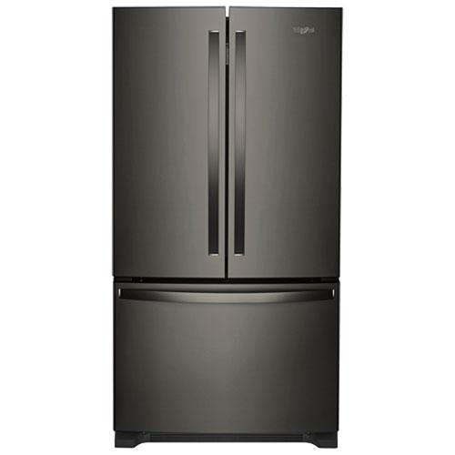 whirlpool french door refrigerator black. whirlpool 33\ french door refrigerator black