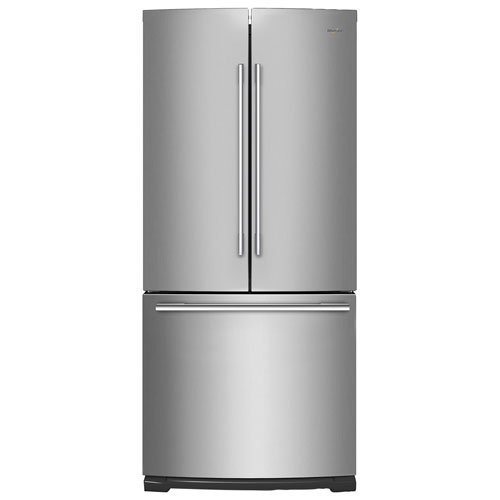 "Kitchenaid 30 19 7 Cu Ft French Door Refrigerator With: Whirlpool 30"" 19.7 Cu. Ft. French Door Refrigerator With LED Lighting (WRFA60SFHZ)"