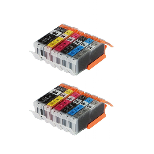 12 packs Imprimieux Ink cartridges combo set PGI250 XL + CLI251 XL compatible for Canon PIXMA MG6320 MG7120 IP8720