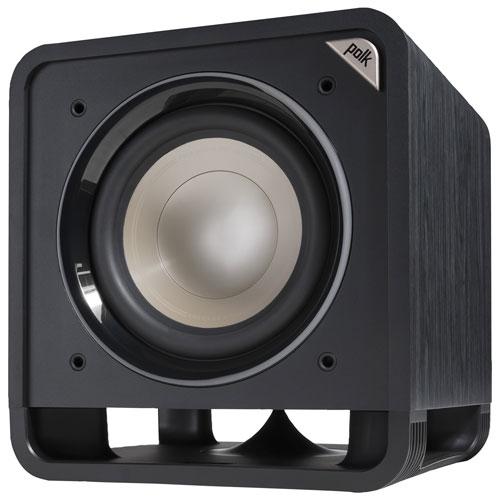 Haut-parleur d'extrêmes graves amplifié 10 po 200 W HTS de Polk Audio - Noir