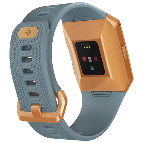 Fitbit Ionic Watch - Slate Blue/Burnt Orange | Best Buy Canada