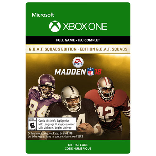 Madden NFL 18 - G.O.A.T Squads Edition (Xbox One) - Digital Download