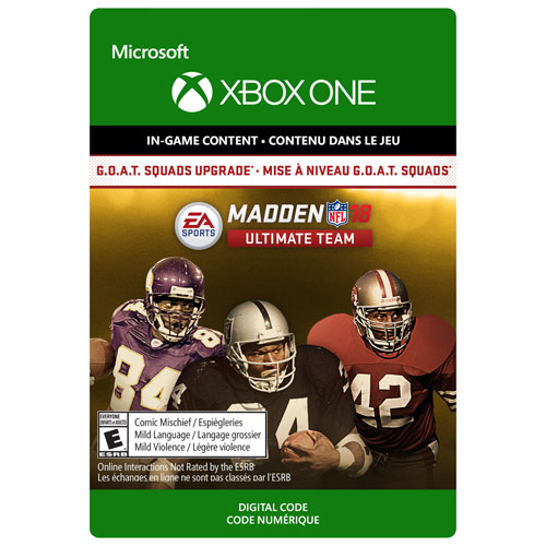 Madden NFL 18 G.O.A.T. Squads Upgrade (Xbox One) - Digital Download
