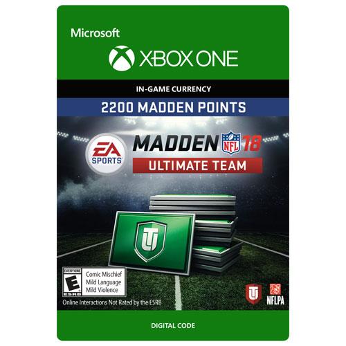 Madden NFL 18 2200 Madden Points (Xbox One) - Digital Download