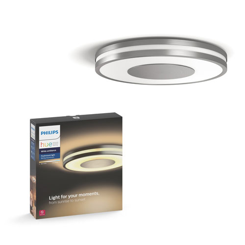 low priced 47ac0 aaabe Philips Hue White Ambiance Being Dimmable LED Smart Flushmount Fixture -  Aluminium