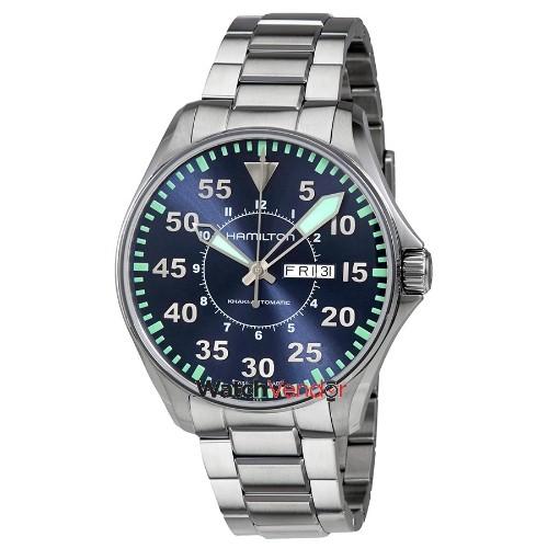 Hamilton Khaki Aviation Automatic Blue Dial Men s Watch H64715145 - Online  Only d803f96ecf