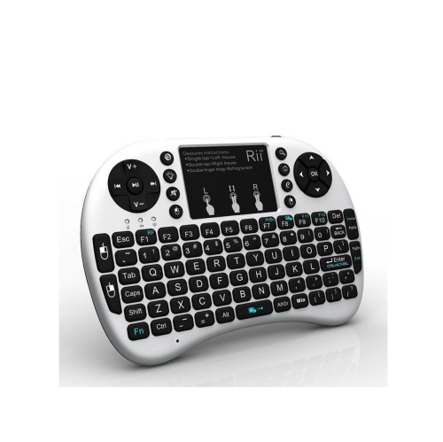 mini keyboard Rii Mini i8+ 2.4G Wireless Keyboard with Touchpad for PC Pad Google Andriod TV Box White