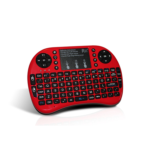 mini keyboard Rii Mini i8+ 2.4G Wireless Keyboard with Touchpad for PC Pad Google Andriod TV Box Red