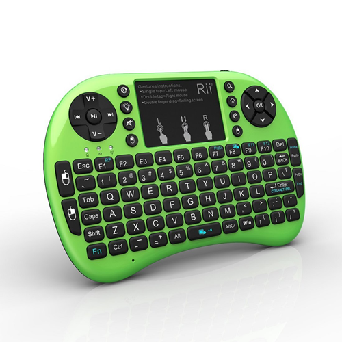 mini keyboard Rii Mini i8+ 2.4G Wireless Keyboard with Touchpad for PC Pad Google Andriod TV Box Green