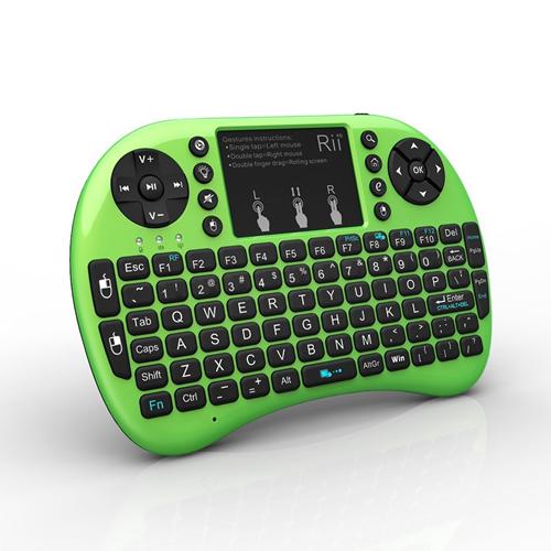 Mini clavier Rii Mini i8 Clavier sans fil 2.4G avec pavé tactile pour PC Pad Google Android TV Box Vert
