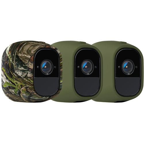 Silicone Camera Protective Skin Case for Arlo Wireless Cameras 4 Pack Green New