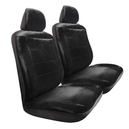 Pilot Automotive Royal Velvet 3 Pc Seat Cover Black Car Care
