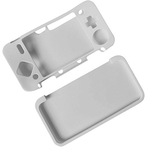 Silicone full Cover Skin Case for Nintendo 2DS XL /2DS LL Game -White